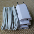 3 Kit x Top Quality EU Plug Traval Wall Charger Adaptor + White 30Pin Data Sync Charging Charger Cable Cord for iPhone 4 4S 3GS