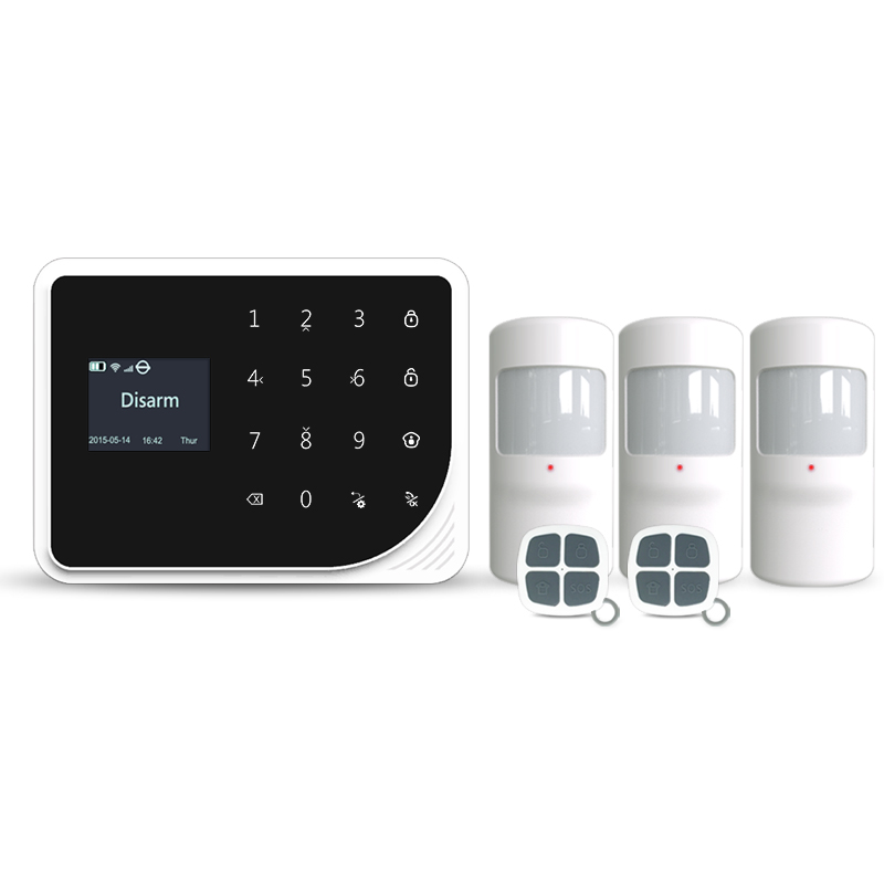 где купить 433mhz gsm wifi home alarm system touch LCD panel alarm system support doorbell function / GSM wireles alarm system по лучшей цене