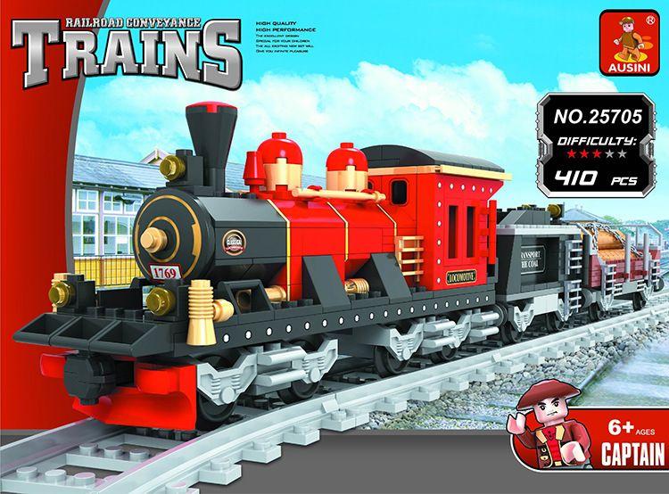 Model building kits compatible with lego city train rail 009 3D blocks Educational model building toys hobbies for children цена