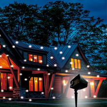 drop ship white led snowfall christmas light waterproof outdoor star christmas laser projector landscape garden lamp - Laser Projector Christmas Lights
