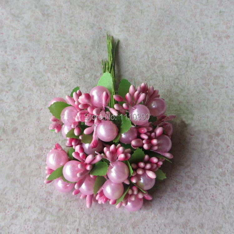 Decorative flowers bouquets with pearl,artificial pip berries,fake ...