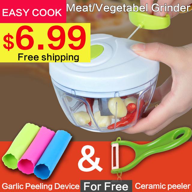 Multifunction design High Speedy Chopper Garlic Cutter Vegetable Fruit Twist Shredder Manual Meat Grinder