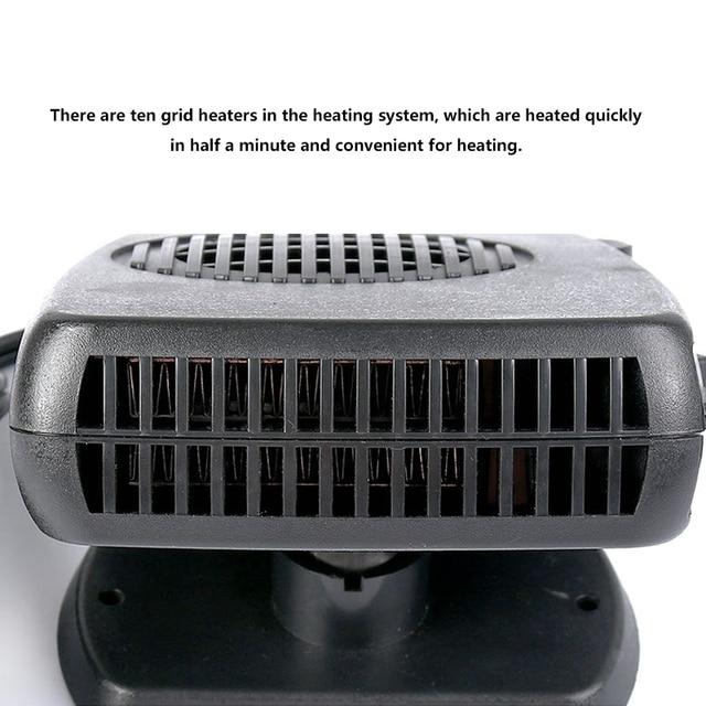 Nouveau chauffage de voiture refroidisseur d'air ventilateur pare-brise désembueur dégivreur 12V 4