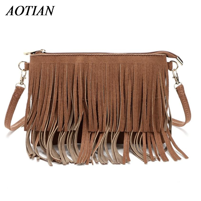 New Fashion Women PU Leather Shoulder Bags Vintage Tassel Female Messenger Bag Ladies Handbag Clutch Bags Bolsa Feminina Dec28 new fashion women pu leather shoulder bags vintage tassel female messenger bag ladies handbag clutch bags bolsa feminina dec28