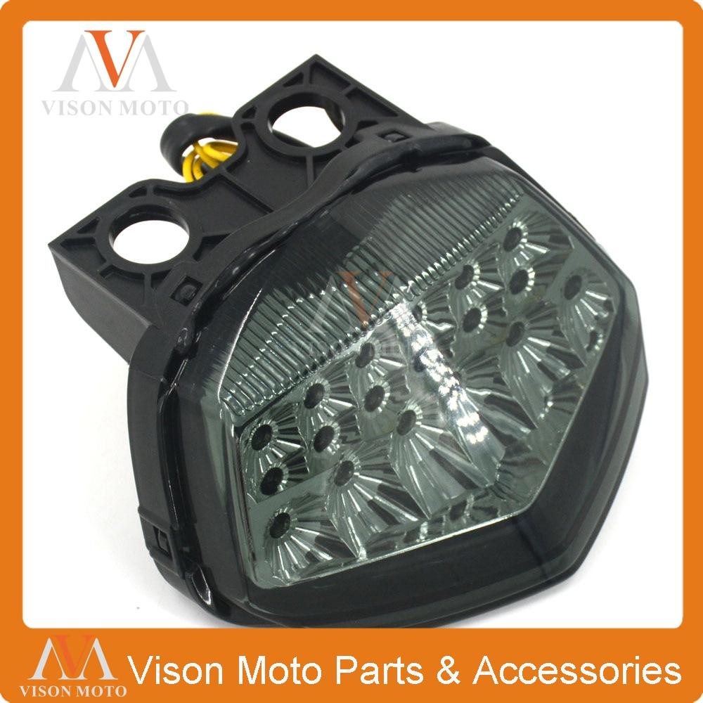 Motorcycle Rear Tail Light Brake Signals Led Integrated Lamp Smoke Light For NINJA250 NINJA 250 NINJA 250R 08 09 10 11 12