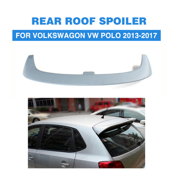 V style FRP Unpained Car Rear Roof Boot Spoiler Wing Lip Fit For Volkswagon VW Polo 2013-2017 2007 bmw x5 spoiler