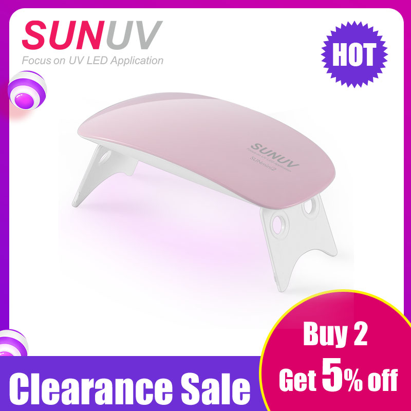 SUNUV SUNmini2 UV LED Lampu Mini Pengering Kuku Portabel Dengan Kabel USB Gel Nail Polish Pengering Hadiah Perjalanan Rumah Gunakan