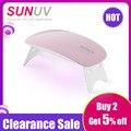 SUNUV SUNmini2 UV LED Lamp Mini Portable Nail Dryer With USB Cable Gel Nail Polish Dryer Gift Home Travel Use