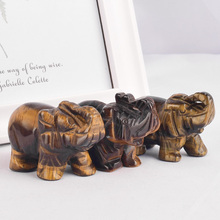 3 pieces 2 inch Quartz Crystals tiger eye elephant figurines natural stones and minerals statues for children room decoration