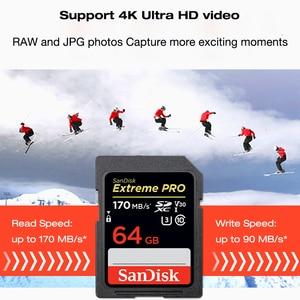 Image 2 - SanDisk carte SD Extreme Pro, SDXC 64 go 128 go 256 go, SDHC 32 go, classe 10, jusquà 95 mo/s, pour appareil photo SLR