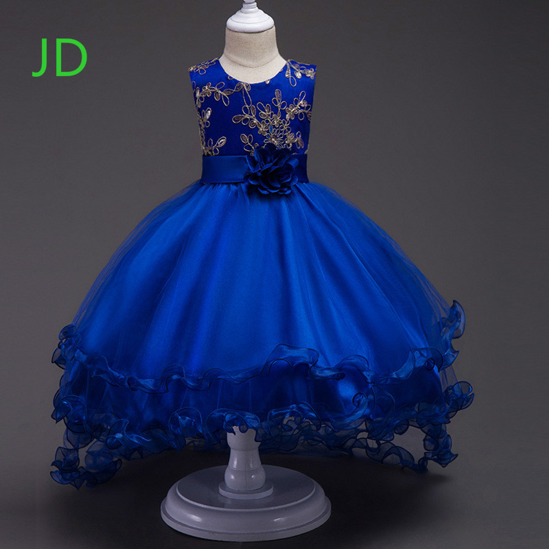 Sell Like Hot Cakes New Girl Wedding Flower Girl Dress Children Bronzing Gauze Dress Im Wild hot sell new