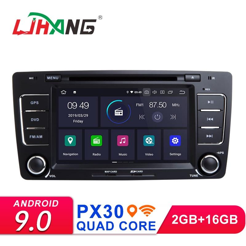 Lecteur multimédia DVD de voiture LJHANG Android 9.0 pour SKODA Yeti/Octavia 2009 2010-2013 GPS Navi 2Din Radio autostéréo Bluetooth WIFI