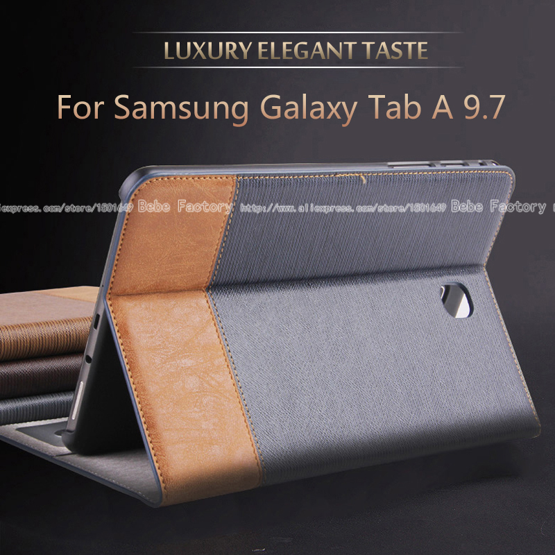 High quality PU leather Case For Samsung Galaxy Tab A 9.7 T550 T555 P550 <font><b>P555</b></font> 9.7 inch tablet stand Cover image