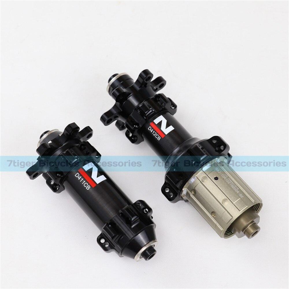 24/24 H plus léger NOVATEC revêtement carbone route disque vélo moyeux vélo enjoliveur D411CB D412CB, noir, QR ou à travers la Version essieu