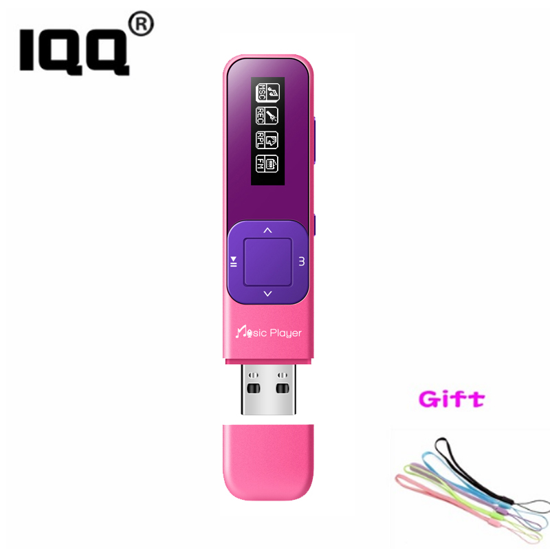 IQQ Q1 mp3 player Mini Portable music player bulit-in 8GB with FM/Recording Hifi lossless suite for running 100playback for kids
