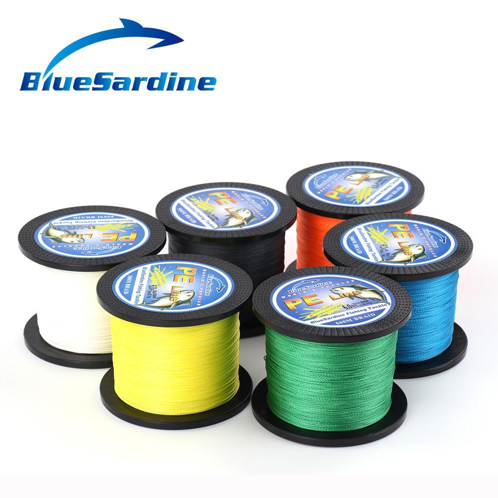 BlueSardine 500M gevlochten vislijn Multifilament PE 4 vlecht - Visvangst - Foto 6
