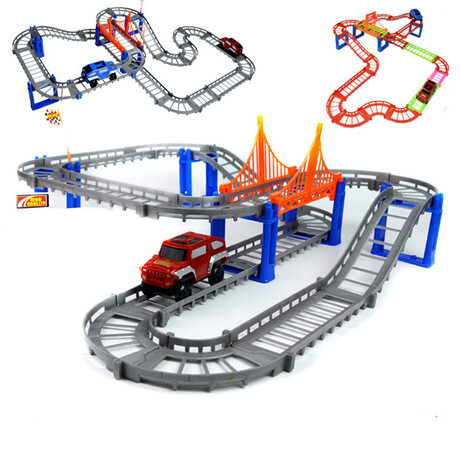 1 stk Race Track Car Toy DIY Multi-track Rail Car Racing Track - Legetøjsbiler