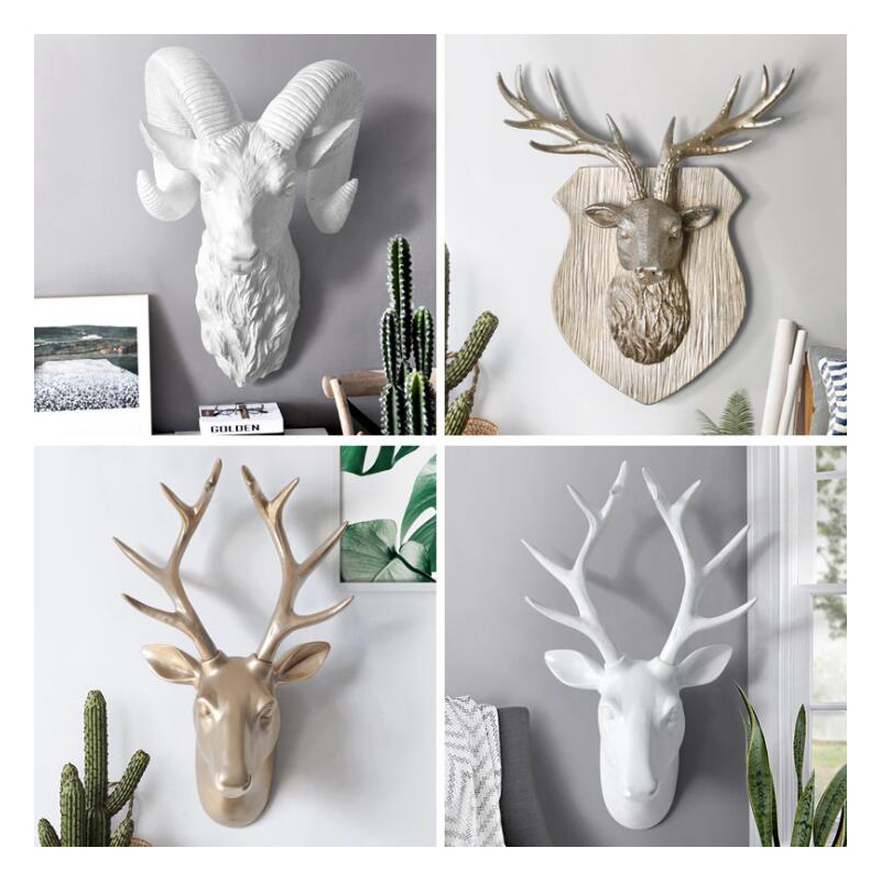 Resin Animal Ornaments Statues Sculptures Artwork Statue Home Corridor Wall  3D Emulate Statue Home Decor CraftResin Animal Ornaments Statues Sculptures Artwork Statue Home Corridor Wall  3D Emulate Statue Home Decor Craft