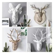 Resin Animal Ornaments Statues Sculptures Artwork Statue Home Corridor Wall  3D Emulate Decor Craft