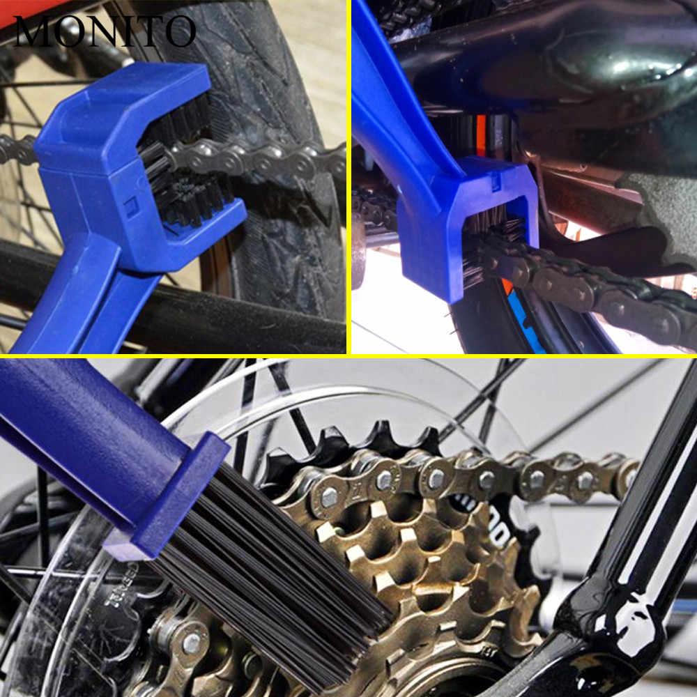 Motorrad Kette Wartung Reinigung Pinsel Reiniger Werkzeug Für Suzuki GSXR GSX-R 600 750 1000 K1 K2 K3 K4 k5 K6 K7 K8 K9 Blau/ROT