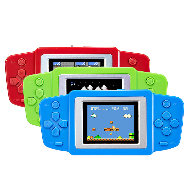 3C Fit Trading Store  2.5 inch LCD screen video game player handheld game console built in battery 3 color for choose for Child's gift toy