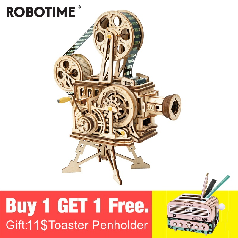 Robotime 2019 New Arrival Hand Crank Diy 3D Flim Projector Wooden Puzzle Game Assembly Toy Gift for Children Adult LK601-in Puzzles from Toys & Hobbies on Aliexpress.com | Alibaba Group