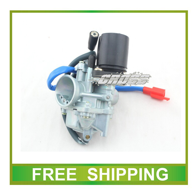 <font><b>GY6</b></font> scooter <font><b>50cc</b></font> 70cc 90cc JOG50 XH90 PZ19 19mm <font><b>carburetor</b></font> with electric choke cable free shipping image