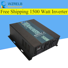 Peak Full Power 1500W Solar Inverter Pure Sine Wave Car 12V/24V to 120V/220V DC AC Voltage Converter