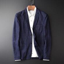 Neue Ankunft Flachs Junge Männer Mode Lässig Herbst Tragen Dünne Flut Marke Casual Super Große Hohe Qiality Einzigen Anzug Größe m 3XL 4XL
