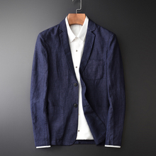 New Arrival Flax Young Men Fashion Casual Autumn Wear Thin Tide Brand Casual Super Large High Qiality Single Suit Size M 3XL 4XL