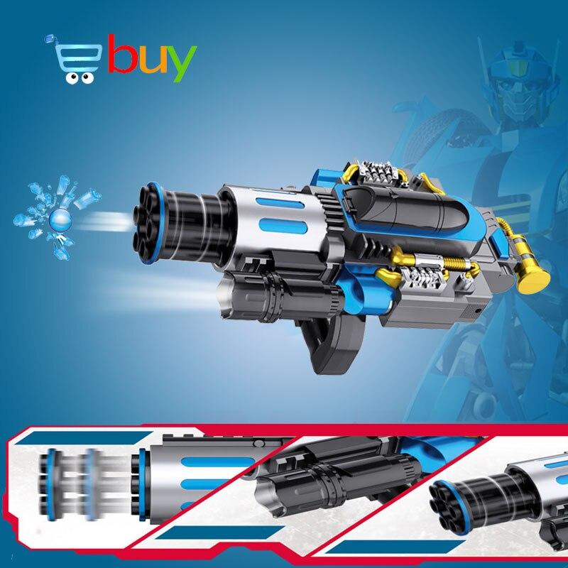 Électrique télescopique éclate Gatling canon à eau jouet pistolets Air balle molle arme pour enfants garçon extérieur CS jeu Paintball cadeaux