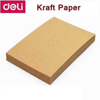 100 sztuk partia Deli papier pakowy A5 A4 A3 80g 120g 160g papier papier do druku druku papier pakowy hurtownie tanie i dobre opinie Papier fotograficzny 80 120 160g 100PCS BAG Pure wood pulp A5 A4 A3 7058 Kraft Paper Leather grain paper