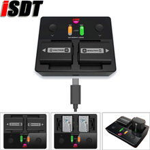 ISDT NP2 18W DC Dual Channel IPS LCD Camera Charger for Sony NP FZ100 NP FW50 NP BX1 Battery