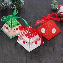 30pcs/lot Xmas Paper Gift Bag Christmas Tree Candy Carrier Present Boxes With Ribbon Party Decor Candy Storage Bags