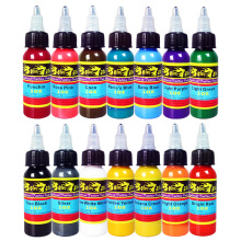 Hybrid Tattoo Machine Ink 14 Colors Set 1OZ 30ml/Bottle Tattoo Pigment Kit Permanent Make Up TI301-30-14 цены