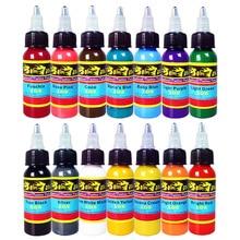 Hybrid Tattoo Machine Ink 14 Colors Set 1OZ 30ml/Bottle Tattoo Pigment Kit Permanent Make Up TI301-30-14 50 colors tattoo