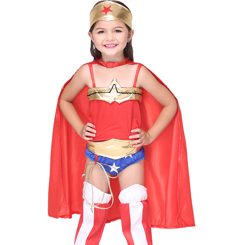 wonder woman superhero cape jumpsuit anime cosplay set halloween costumes for kidschina - Halloween Costumes Prices
