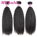 MS Lula Kinky Straight Hair Weave 3pcs 7A Grade Brazilian Virgin Hair Unprocessed Brazilian Hair Weave Bundles Free Shipping