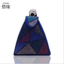 XIYUAN BRAND 2017 Hot Fashion Handmade double face Beaded Pearl Evening Bag  Clutch Crystal Purse Bag Party Wedding Bag wallets