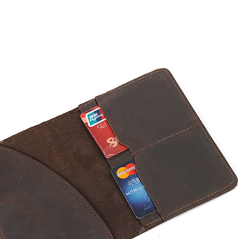 74521cf65b9 genuine leather passport case crazy horse handmade men vintage travel passport  holder luxury covers for passports cow leather-in Card   ID Holders from ...
