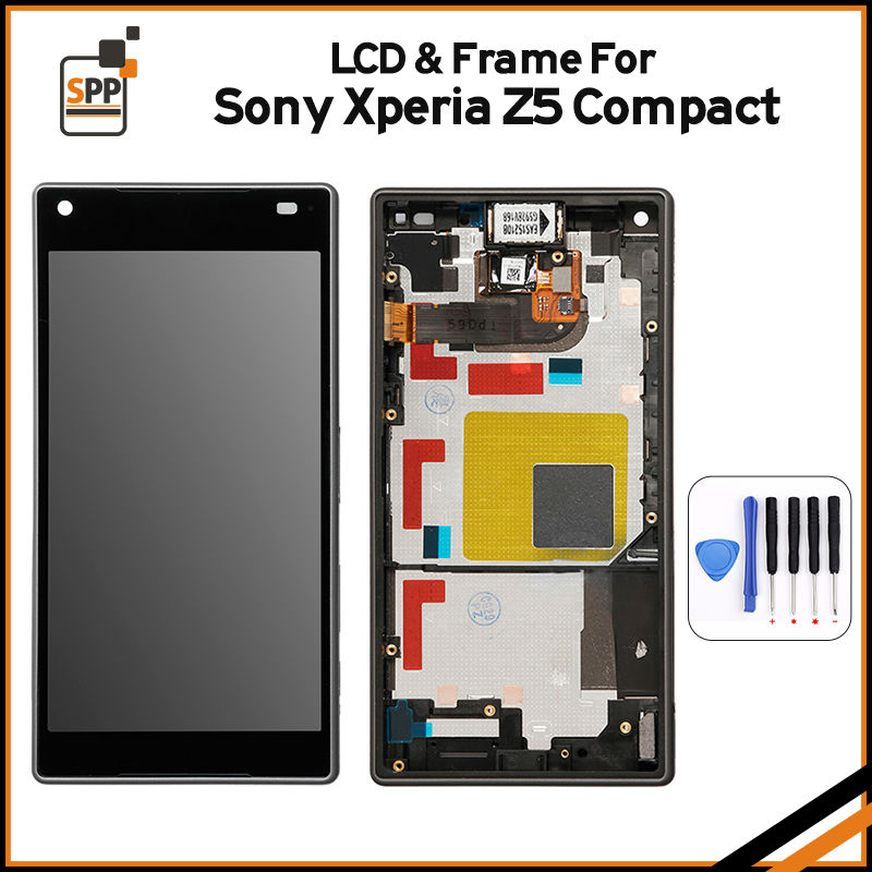 white black lcd display touch screen digitizer full assembly replacement part For SONY Xperia Z5 Compact Mini E5803 E5823 постельное белье сирень постельное белье евро кпб рай