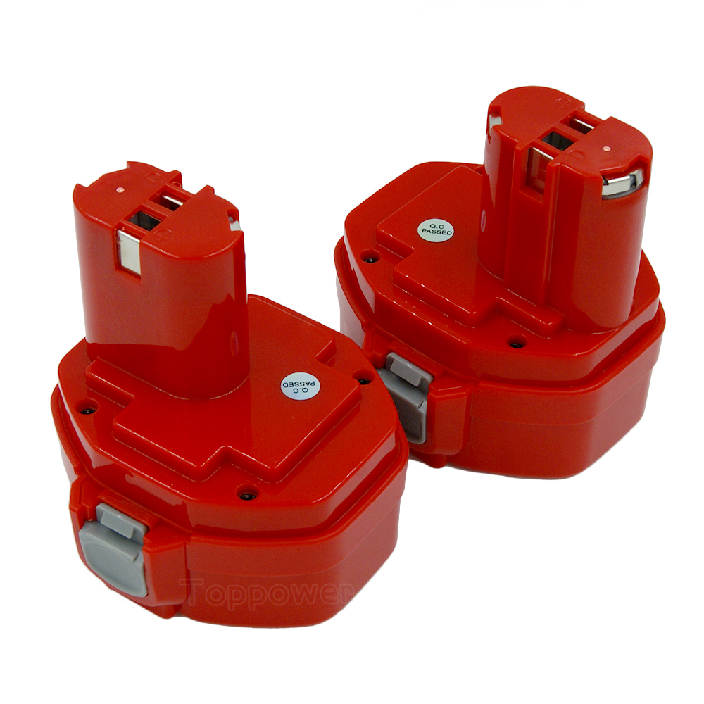 2X 14 4V 3000mAh Ni CD Power Tools Rechargeable Batteriesfor Makita 1420 1422 192600 1 192699
