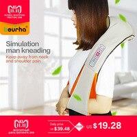 U Shape Electrical Shiatsu Back Neck Shoulder Body Kneading Massage relaxing products Infrared Massagem with Gift Box
