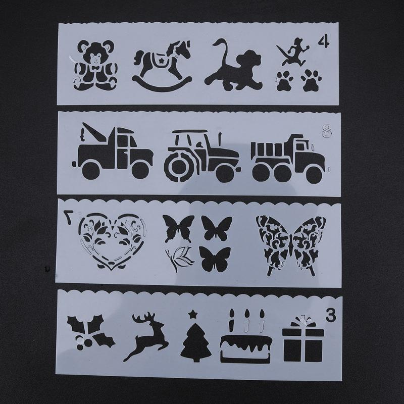 Cartoon Pattern Hollow Stencil