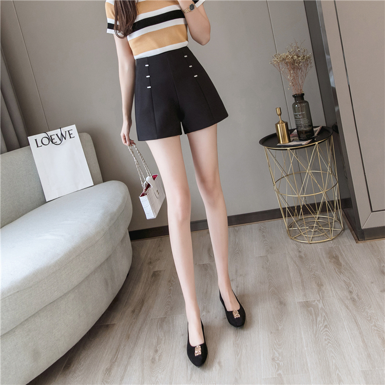 Summer Shorts For Women 2019 High Waist Casual Wide Leg Shorts Loose OL work Wear Solid Shorts 7