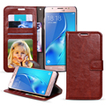 For Samsung Galaxy J1 2016 J5 J510 J510F J7 J710 Case Luxury Retro PU Leather Flip Wallet Cover For Samsung Galaxy A5 A3 A7 2016