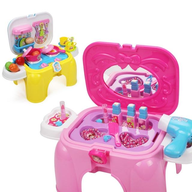 Juego de nios del juguete juega para chicas dresser luces de sonido
