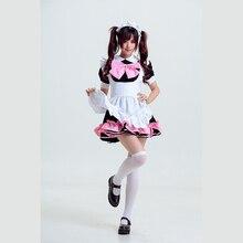 Japonés de halloween costume anime love live maki cosplay a set trajes de lolita arco niñas caramelo fancy maid dress mujeres