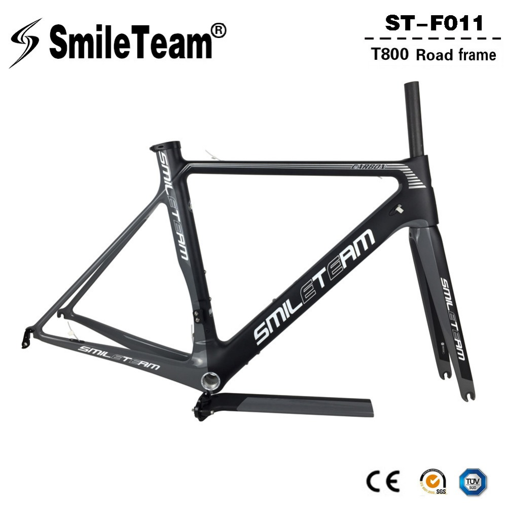 SmileTeam 2018 New T800 Carbon Road Bike Frameset 700C Aero Carbon OEM Racing Bicycle Frame With Fork Seatpost 2 Year Warranty 2018 t800 full carbon road frame ud bb86 road frameset glossy di2 mechanical carbon frame fork seatpost xs s m l og evkin