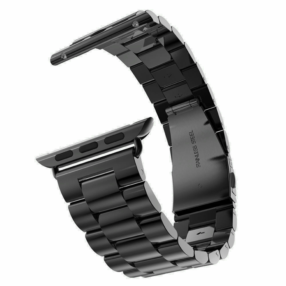 все цены на New Quality Stainless Steel Strap Band for Apple Watch Band Sport Edition Black Silver Gold Watchband 38mm 42mm for iWatch band онлайн